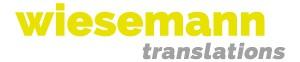 Wiesemann translations